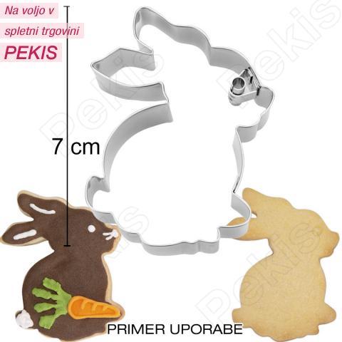 Modelček Sedeči zajček 7 cm, rostfrei