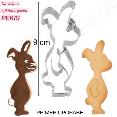 Modelček Stoječi zajček 9 cm, rostfrei