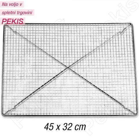 Gosta kromirana mreža za oblivanje in hlajenje 45x32 cm