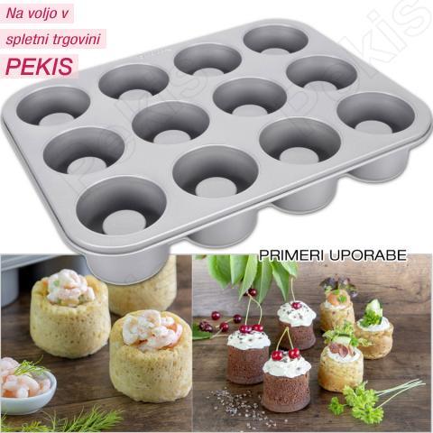 Pekač za kruhove skodelice, tortice...