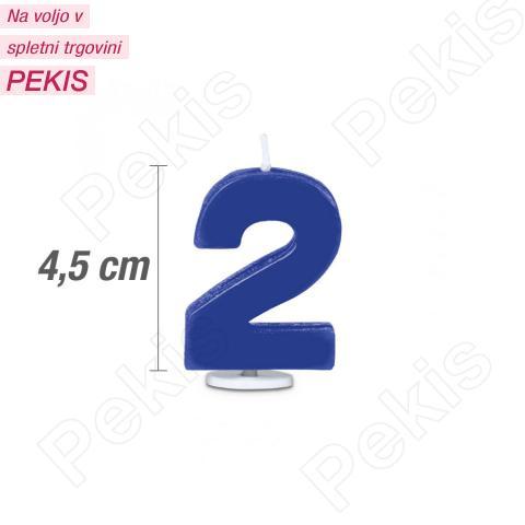 Svečka številka 2 - Modra