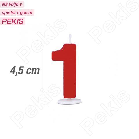 Svečka številka 1 - Rdeča