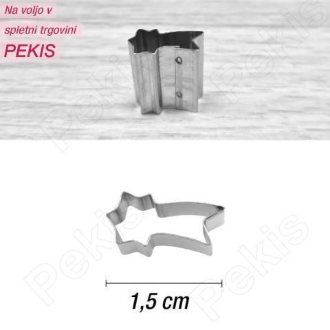 Mini modelček zvezdni utrinek 1,5 cm, rostfrei