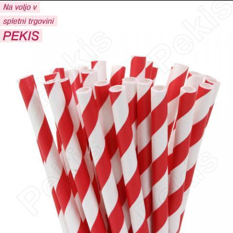 Palčke za Cake Pops rdeče/bele