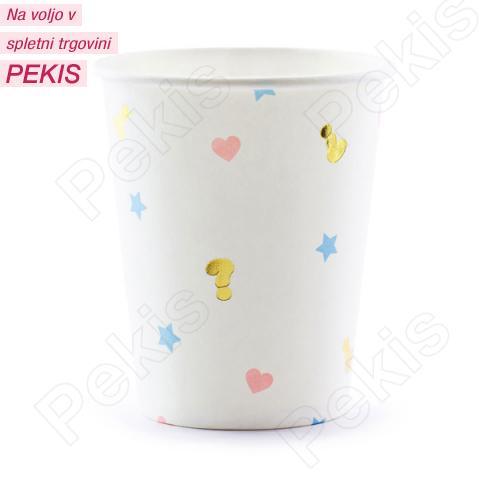 Papirnati kozarci Fantek ali punčka, 200 ml, 6 kom