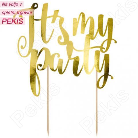 Topper za torto It's my party