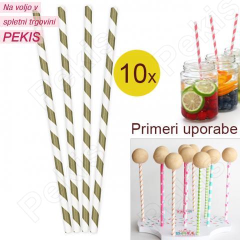 Palčke za Cake Pops ali slamce 10 kom št.8