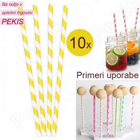 Palčke za Cake Pops ali slamce 10 kom št.10
