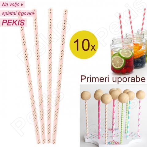 Palčke za Cake Pops ali slamce 10 kom št.31