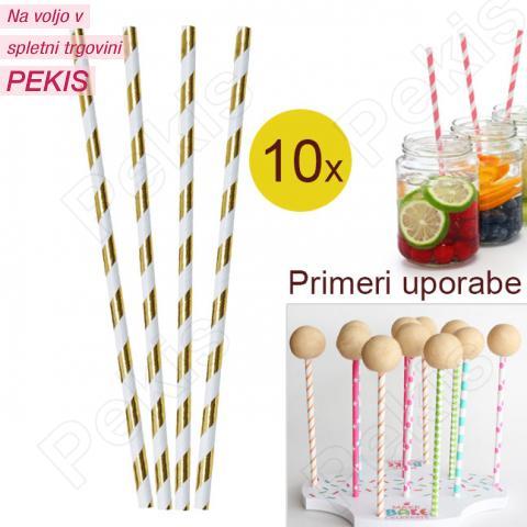 Palčke za Cake Pops ali slamce 10 kom št.25