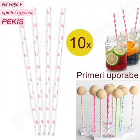 Palčke za Cake Pops ali slamce 10 kom št.29