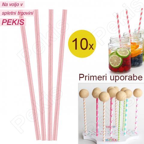 Palčke za Cake Pops ali slamce 10 kom št.34