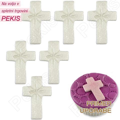6 sladkornih bisernih križev (4cm)