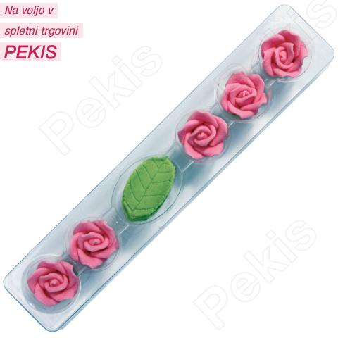 5 vrtnic in 5 listkov, roza