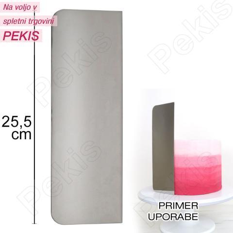 Visoka kovinska gladilka - 25 cm, PME