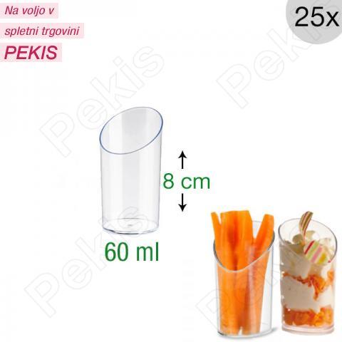 Mini kozarčki za sladice 60 ml, prozorni, 25 kom