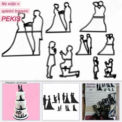 Patchwork modelčki poročni motiv