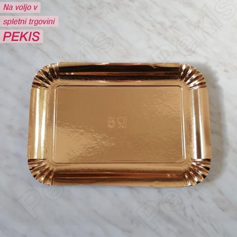 Zlat pladenj za piškote in pecivo št:5