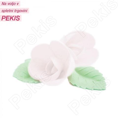 Vrtnice z listki iz hostije Bele, 4 cm