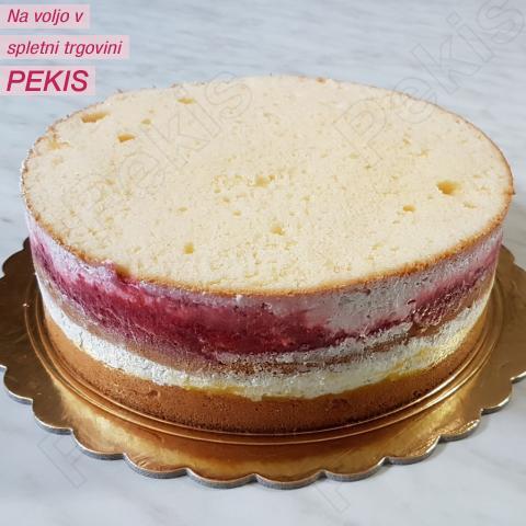 Količina smetane za torte različnih velikosti