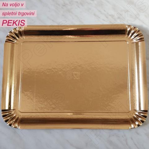Zlat pladenj za piškote in pecivo št:8
