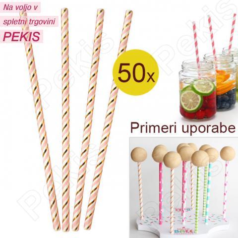 Palčke za Cake Pops ali slamce ZLATE 50 kom št.1