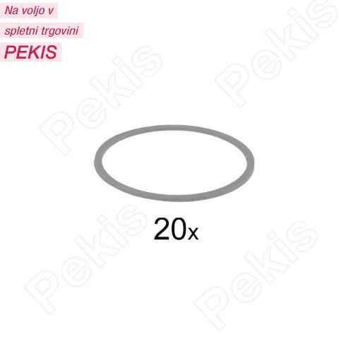 Silikonske elastike za zapiranje vrečk, 20 kom, sive