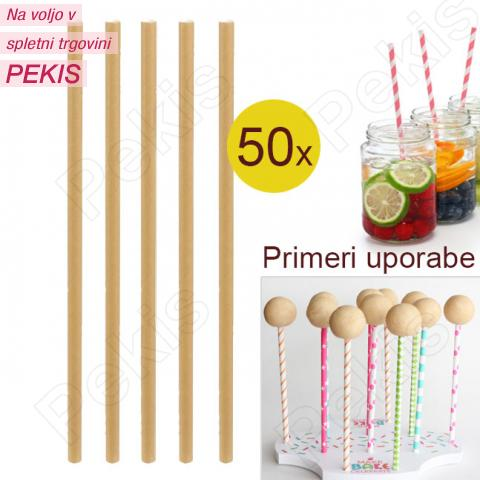 Palčke za Cake Pops ali slamce 50 kom št.1