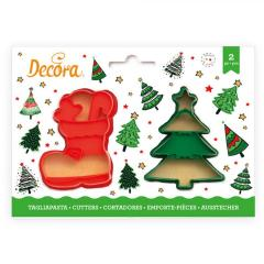 Modelčka Božičkov škorenj in Božično drevo, 2 delni