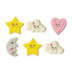 6 sladkornih dekoracij Baby girl