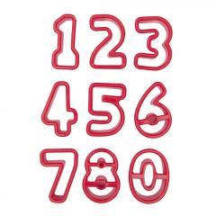 Modelčki za številke, 9 delni, 3,5 do 4 cm