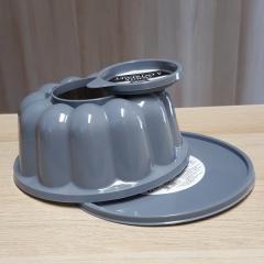 Model s pokrovi za večjo panakoto, puding, šarloto 21 cm, siv
