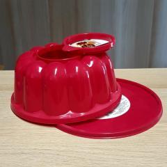 Model s pokrovi za večjo panakoto, puding, šarloto 21 cm, rdeč