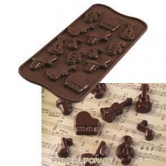 Silikomart silikonski modelček Čokoladna melodija