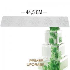 Silikomart silikonski modelček za čipke, Ornament 40x8cm