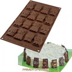 Silikomart čokoladne ploščice Safari