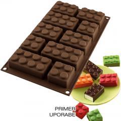 Silikomart silikonski modelček lego čokoladni zidaki