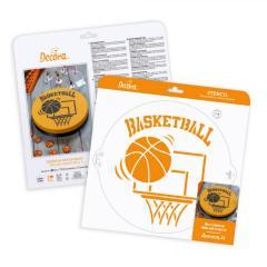 Šablona košarka 25 cm