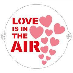 Šablona Love is in the air 25 cm