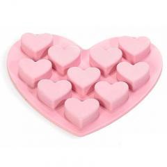 Silikonski kalup v obliki srca, roza