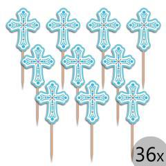 Dekoracija Modri križi, 36 kom