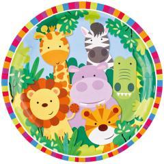 Papirnati krožniki Safari živali 23 cm