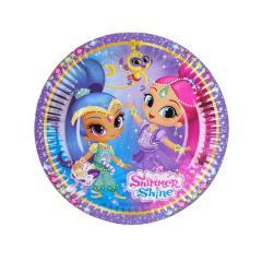 Papirnati krožniki Shimmer in Shine 18 cm