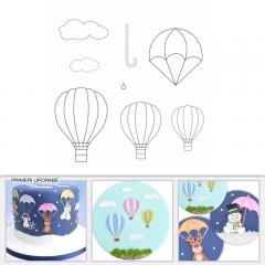 Patchwork modelček balon, dežnik in padalo