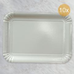 Bel pladenj za piškote in pecivo št:7, 10 kom