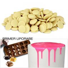 Čokolada za topljenje - BELE ploščice 300g