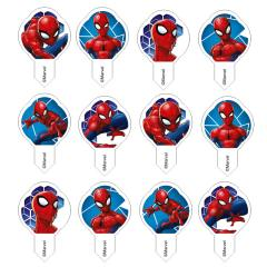 Wafel mini ploščice Spiderman - 5 cm, 12 kom