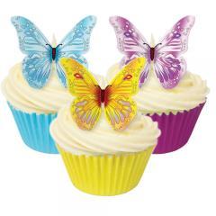 Jedilni metuljčki raznobarvni 12 kom