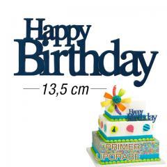 Eleganten napis za torto Happy Birthday, MODER
