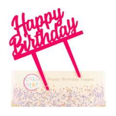 Topper za torto Happy Birthday ROZA